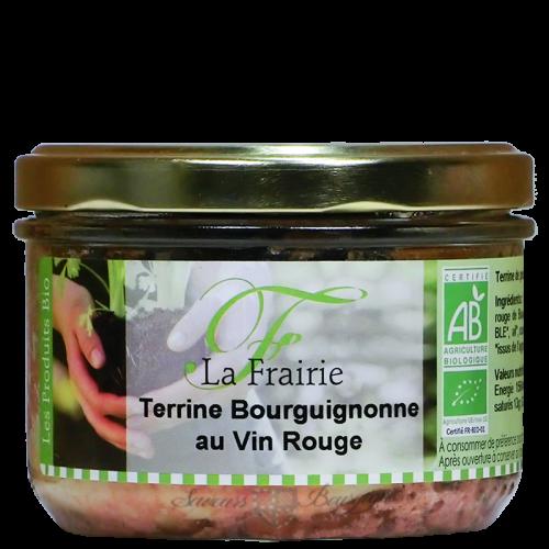 Terrine Bourguignonne au vin rouge Bio 180g