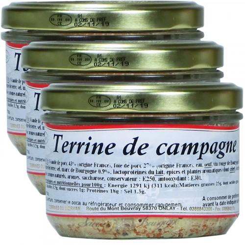 Terrine de Campagne 180g x 2 + 1 Gratuit
