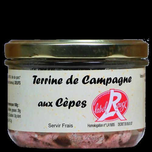 Terrine de campagne aux cèpes 180g Label Rouge