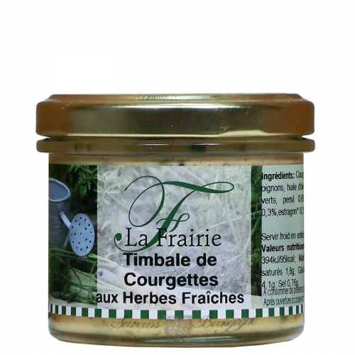 Timbale de courgettes aux herbes fraîches 100g