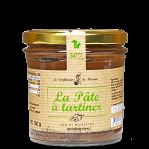 La pâte à tartiner avec 50% de noisettes 300g - Confiturier du Morvan