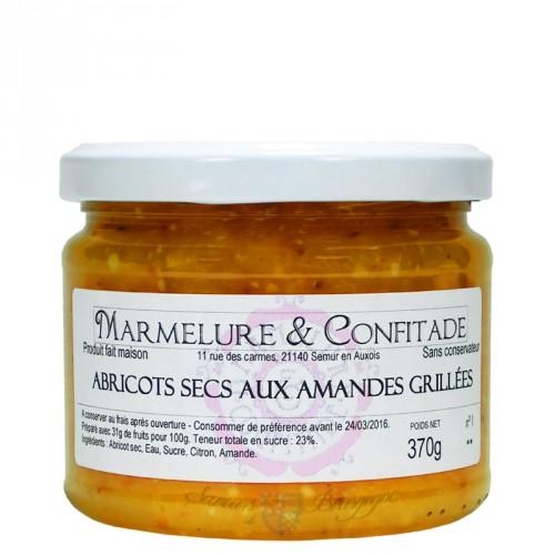 Confiture Abricots secs aux amandes grillées 370g Marmelure & Confitade