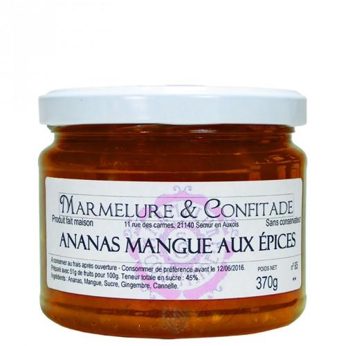 Confiture Ananas et mangue aux épices 370g Marmelure & Confitade