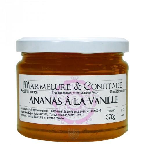 Confiture Ananas à la vanille 370g Marmelure & Confitade