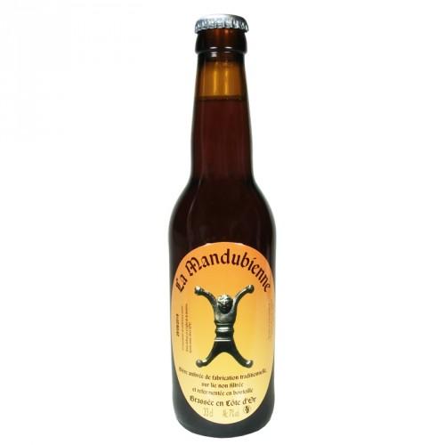 Bière ambrée Mandubienne 33cl Les 3 fontaines