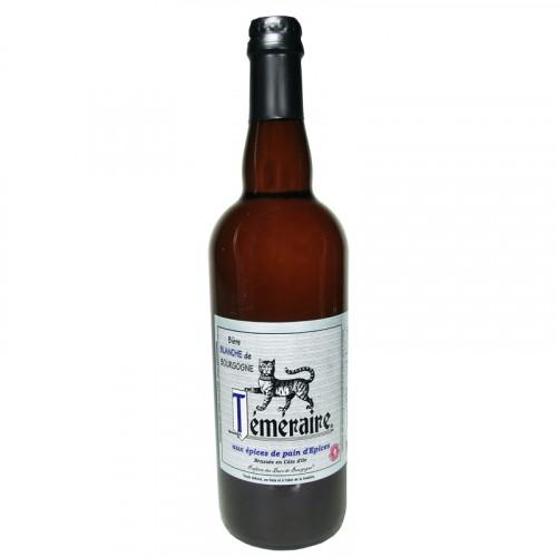 Bière blonde au marc de Bourgogne Téméraire 75cl Les 3 fontaines