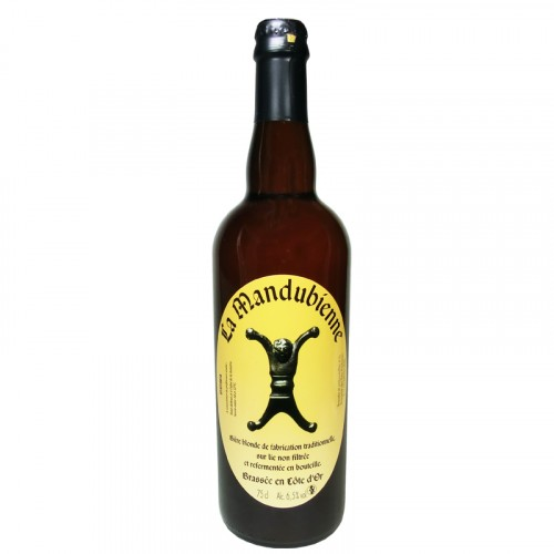 Bière blonde Mandubienne 75cl Les 3 fontaines