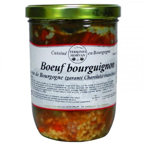 Boeuf Bourguignon au vin de Bourgogne 750g