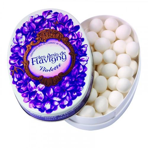 Boite ovale 50g - Violette