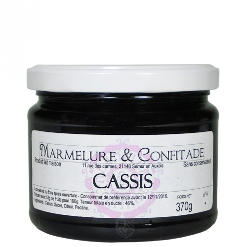 Confiture Cassis 370g Marmelure & Confitade
