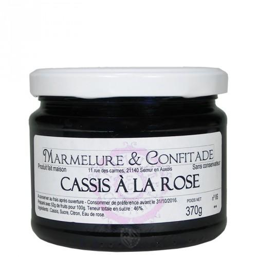 Confiture Cassis à la rose 370g Marmelure & Confitade