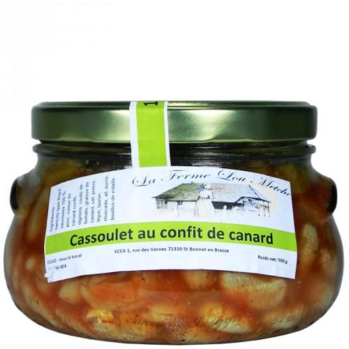 Cassoulet au confit de canard 500g