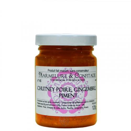 Chutney de poire, gingembre et piment 125g