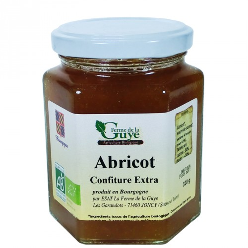 Confiture Abricot 320g Bio ferme de Guye