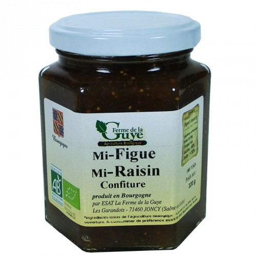Confiture Mi-Figue/Mi Raisin 320g Bio ferme de Guye