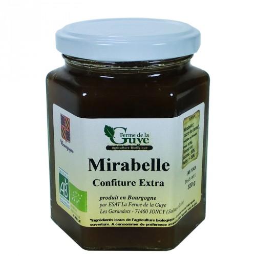 Confiture Mirabelle 320g bio ferme de Guye