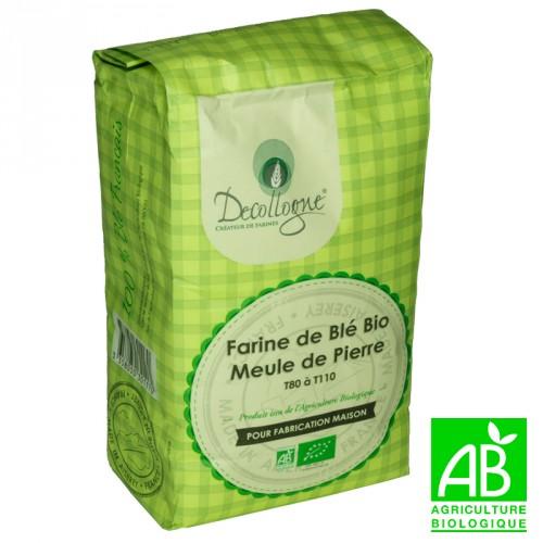 Farine de blé bio Meule de pierre T80 à T110 1Kg