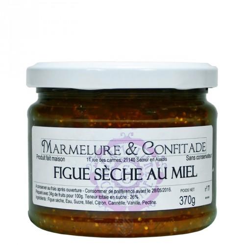 Confiture Figues sèches au miel 370g Marmelure & Confitade