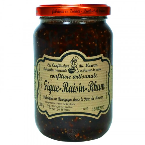 Confiture Figue-Raisin-Rhum 380g Confiturier du Morvan