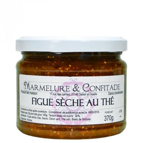 Confiture Figue sèche au thé 370g Marmelure & Confitade