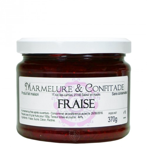 Confiture Fraise 370g Marmelure & Confitade