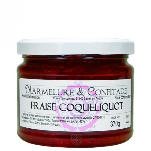 Confiture Fraise et coquelicot 370g Marmelure & Confitade