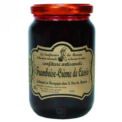 Confiture Framboise-Crème de cassis 380g Confiturier du Morvan