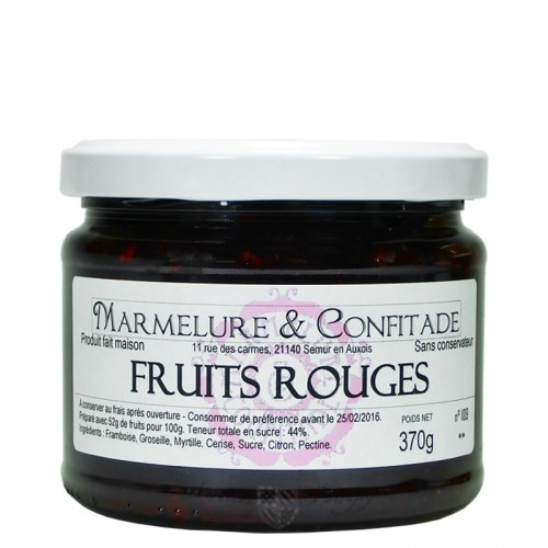 Confiture Fruits rouges 370g Marmelure & Confitade