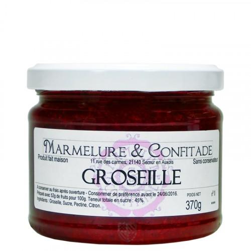 Confiture Groseille 370g Marmelure & Confitade