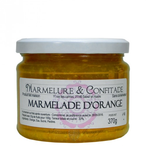 Marmelade d'orange 370g Marmelure & Confitade