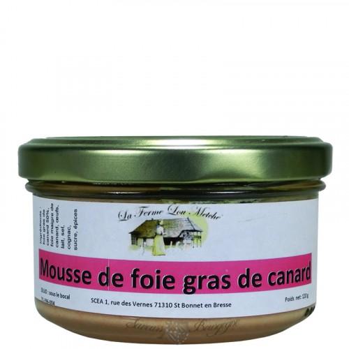Mousse de foie gras canard 120g