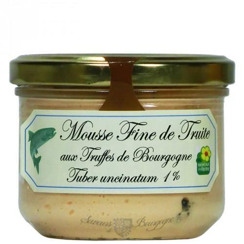 Mousse Fine de Truite aux truffes de Bourgogne 200g