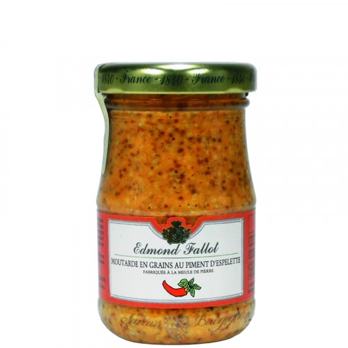 Moutarde en Grains au Piment d'Espelette 100g Fallot