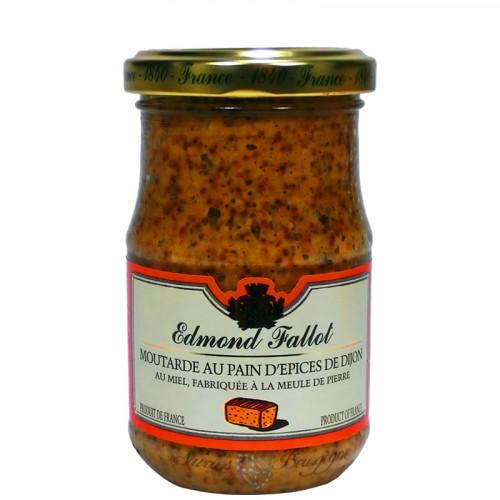 Moutarde au pain d'épices et au miel 210g Fallot
