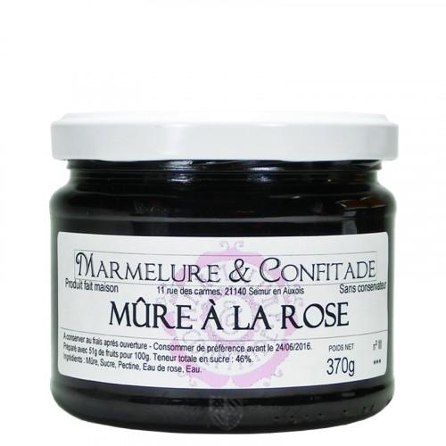 Confiture Mûre à la rose 370g Marmelure & Confitade
