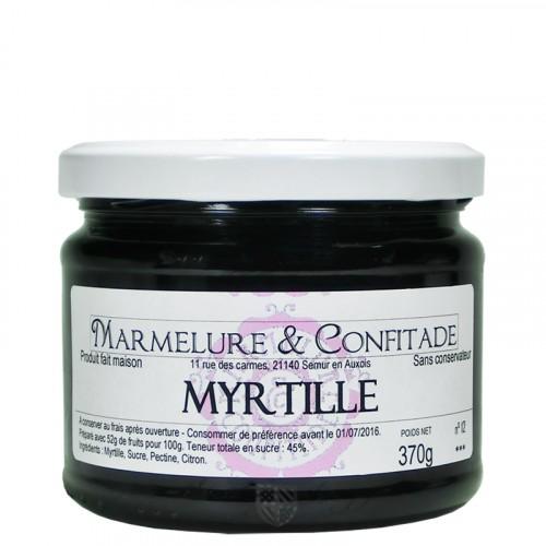 Confiture Myrtille 370g Marmelure & Confitade
