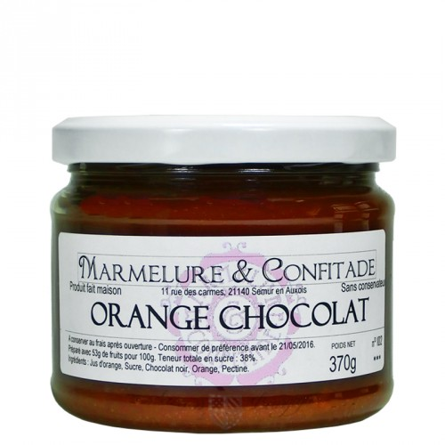 Confiture Orange au chocolat 370g Marmelure & Confitade