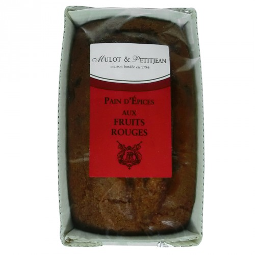 Pain d'épices aux fruits rouges 180g