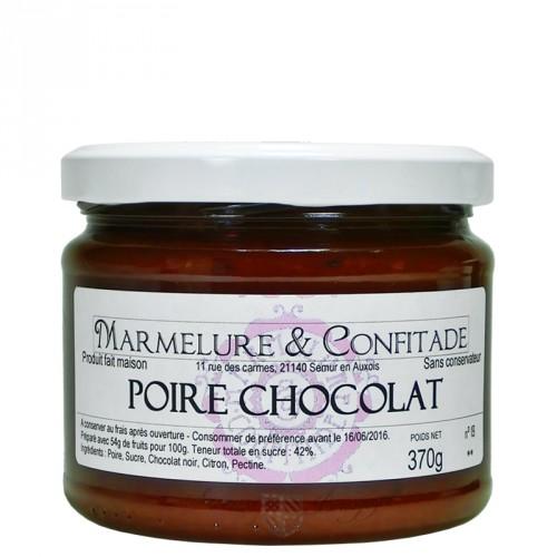 Confiture Poire et chocolat 370g Marmelure & Confitade