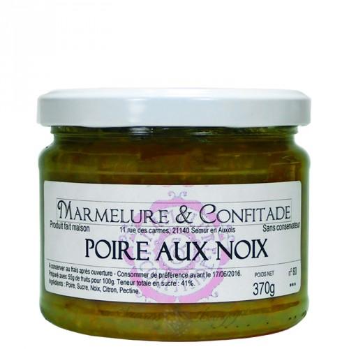 Confiture Poire aux noix 370g Marmelure & Confitade