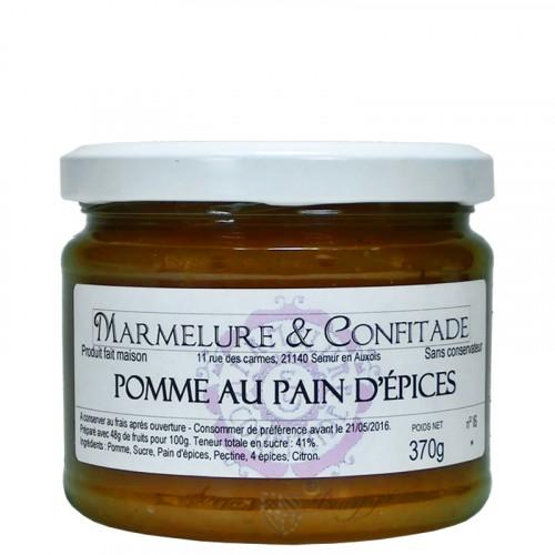 Confiture Pomme au pain d'épices 370g Marmelure & Confitade