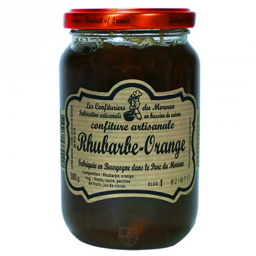 Confiture Rhubarbe-Orange 380g