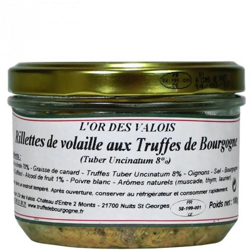 Rillettes de volaille aux Truffes de Bourgogne 180g