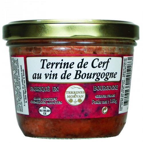 Terrine de Cerf au vin de Bourgogne 180g