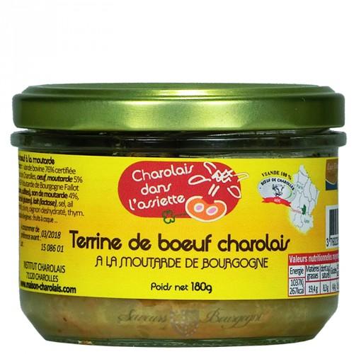 Terrine de Boeœuf Charolais à la Moutarde de Bourgogne Fallot 180g