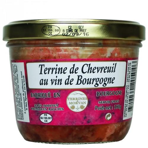 Terrine de chevreuil au vin de Bourgogne 180g