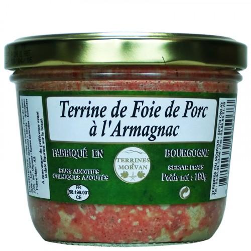 Terrine de Foie de Porc à l'Armagnac 180g