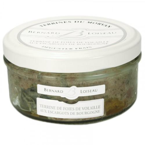 Terrine de Foies de Volailles aux Escargots de Bourgogne 140g