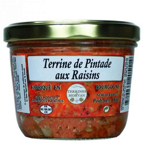 Terrine de Pintade aux raisins 180g