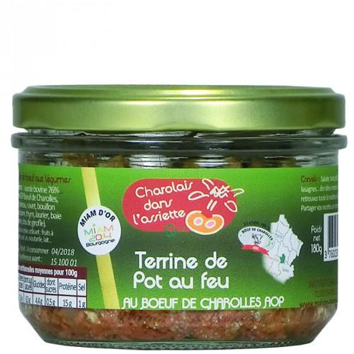 Terrine de pot au Feu au Boeœuf Charolles AOP 180g